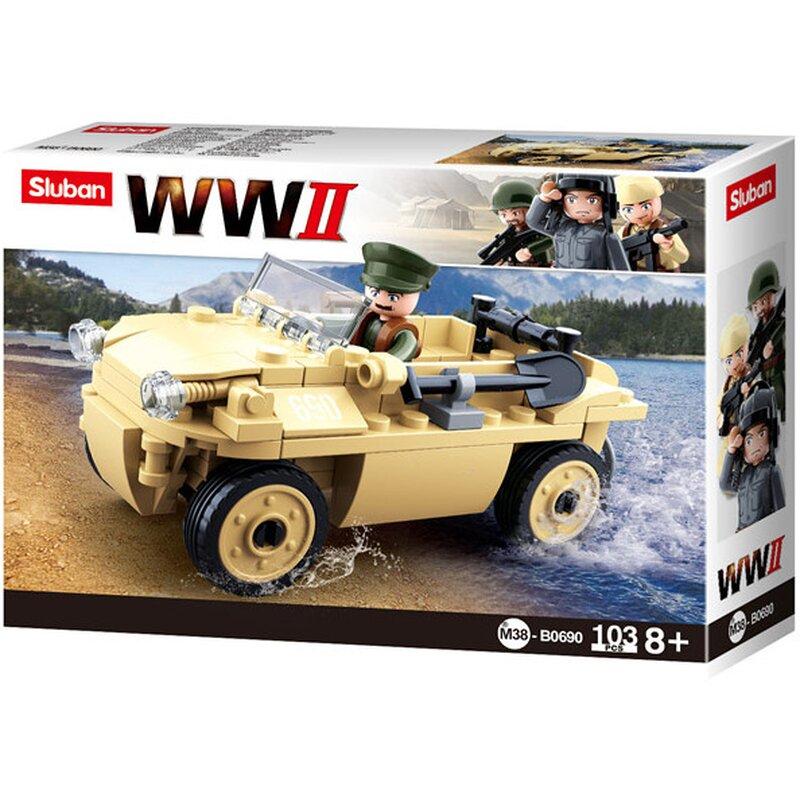 WWII - German Schwimmwagen - byggklossar B0690 - Sluban
