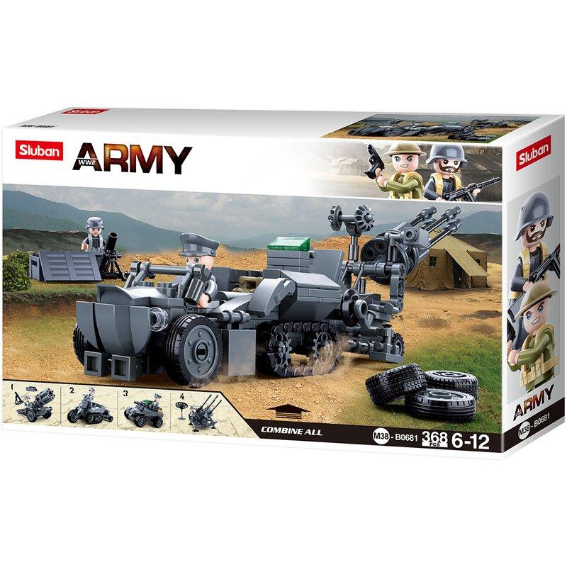 4in1 German Army B0681 - byggklossar - Sluban