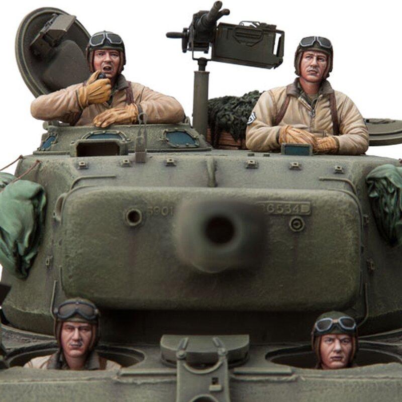 Figurenbausatz U.S Panzer Besatzung Set 4 - 1:16 - Sol Model