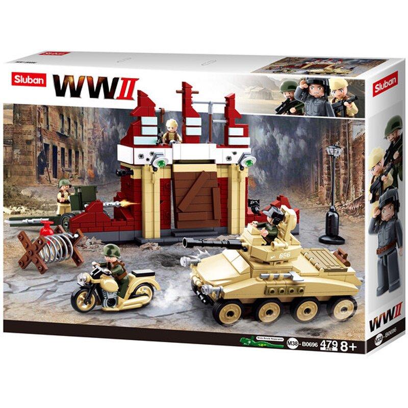 WWII - Slaget om Stalingrad B0696 - byggklossar - Sluban