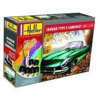 Byggmodell bil - Jaguar E 3L8 Fhc COMPLETE - 1:24 - Heller