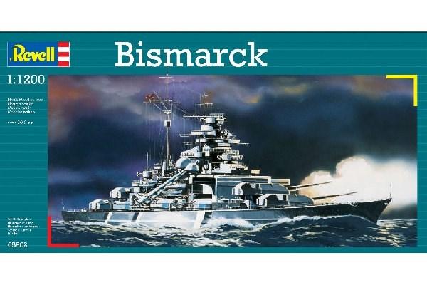 Byggmodell krigsfartyg - Bismarck - 1:1200 - Revell