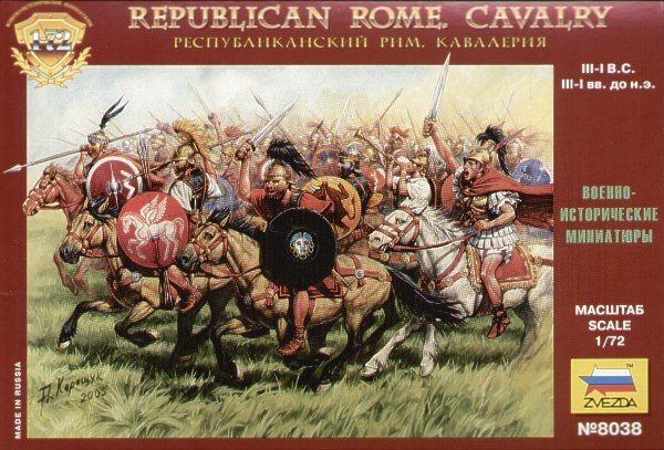 Byggmodell gubbar - Rep.Rome Cavalry - 1:72 - Zveda