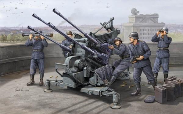 Byggmodell - Flak 38 20 mm anti aricraft gun - 1:35 - Trumpeter