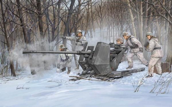 Byggmodell - Flak 37 37 mm Anti-Aircraft Gun - 1:35-  Trumpeter