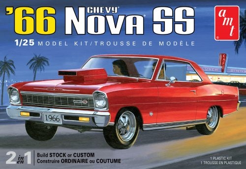 Byggmodell bil - 1966 Chevy Nova SS - 1:25 - AMT