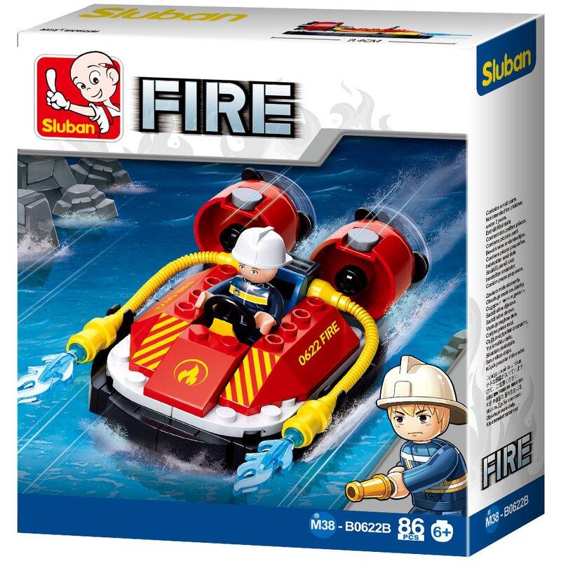Fire Brigade Hovercraft - B0622B - Sluban