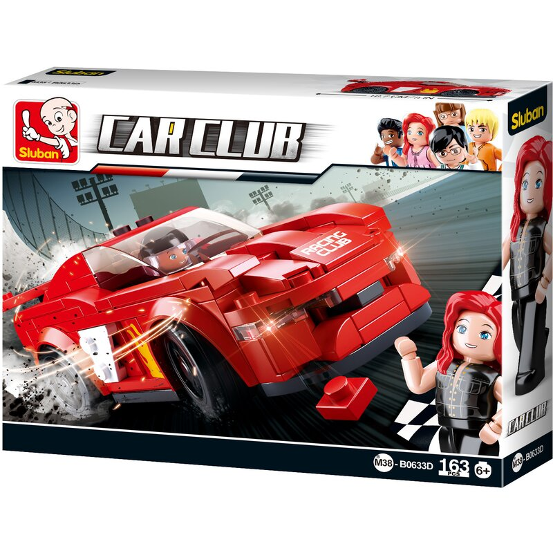Sports Car Bird - B0633D - Sluban