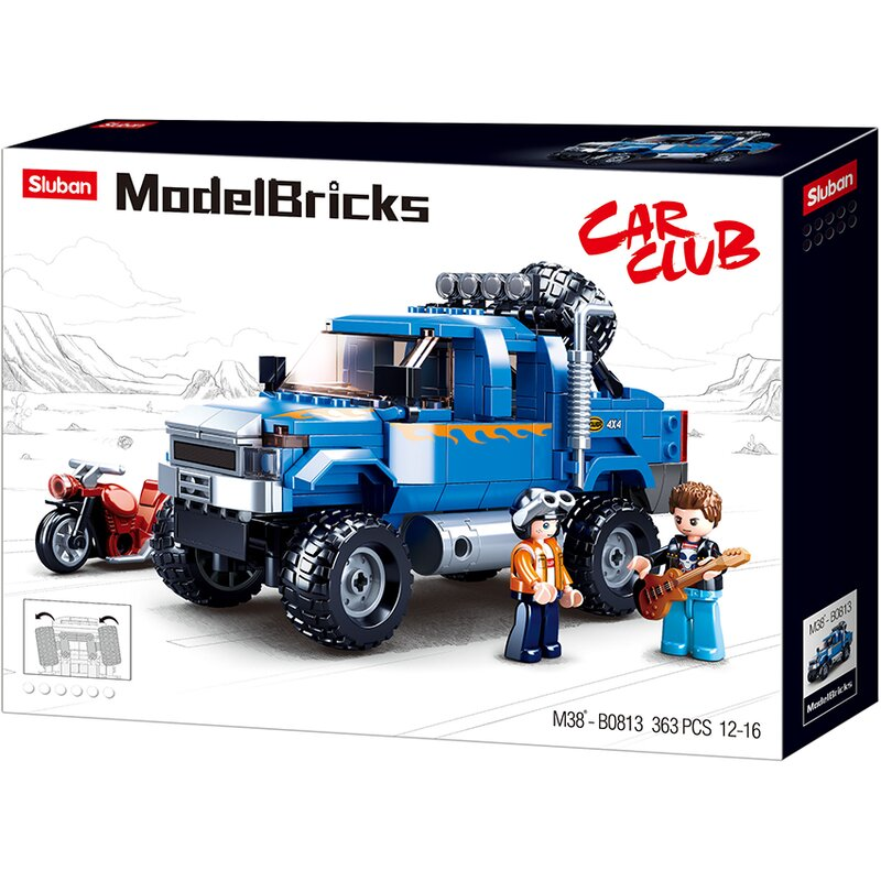 Blue Heavy Truck - B0813 - Sluban