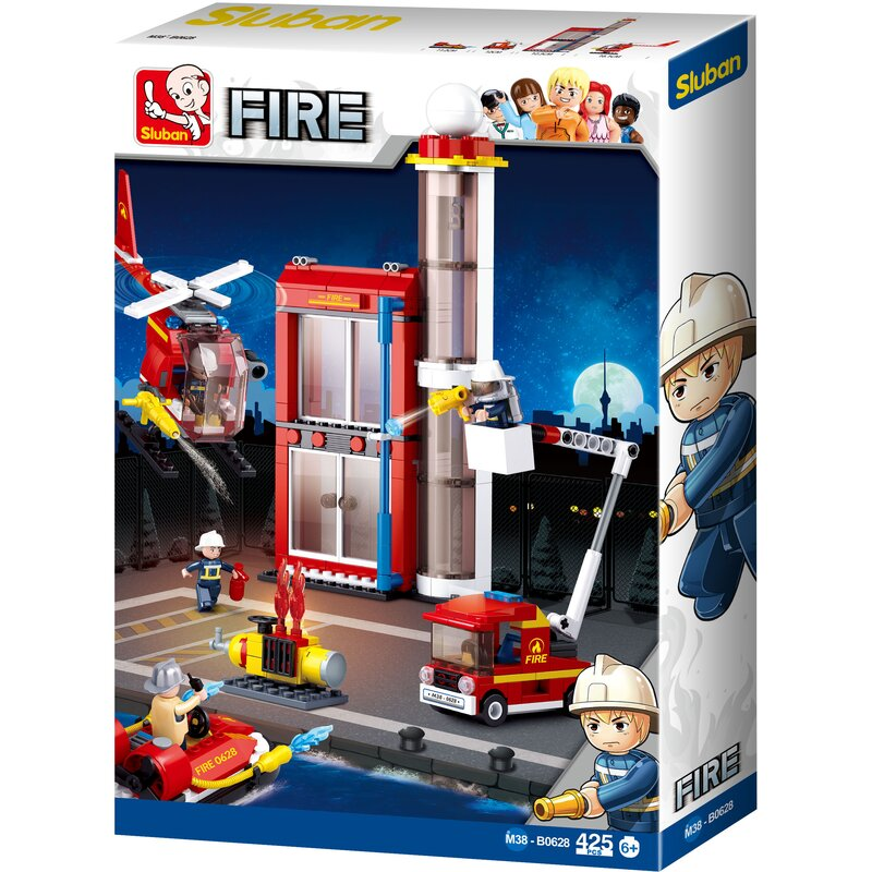 Fire Station Small - B0628 - Sluban
