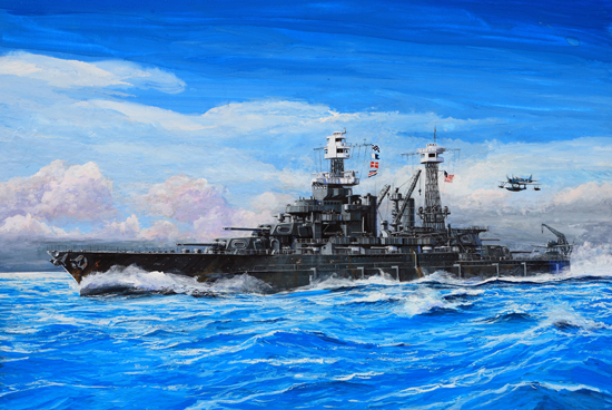Byggmodell krigsfartyg - USS Maryland BB-46 1941 - 1:700 - Trumpeter