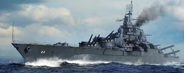 Byggmodell krigsfartyg - USS California BB-44 1945 - 1:700 - Trumpeter