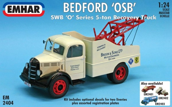 Byggmodell lastbil -  Bedford Swb Recovery Truck - 1:24 - Emhar