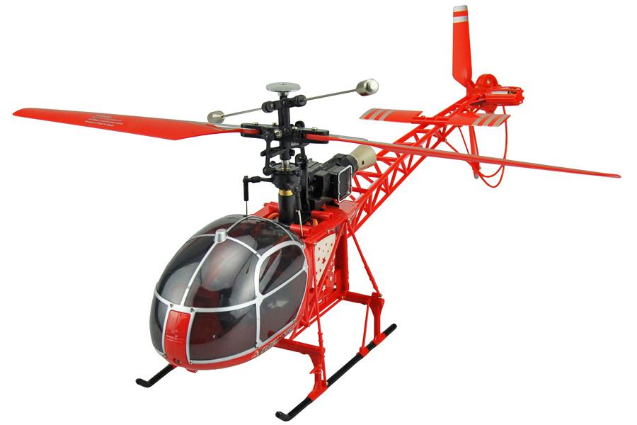 Radiostyrd helikopter - Lama - 2,4Ghz Gyro - 4ch - RTF