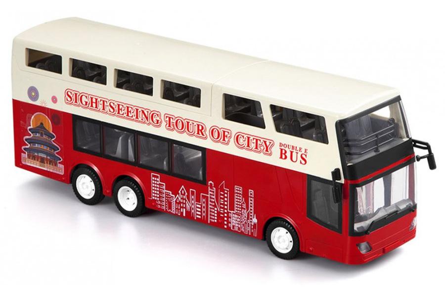 Radiostyrd buss - Dubbeldäckare Röd - 1:18 - 2,4Ghz - RTR