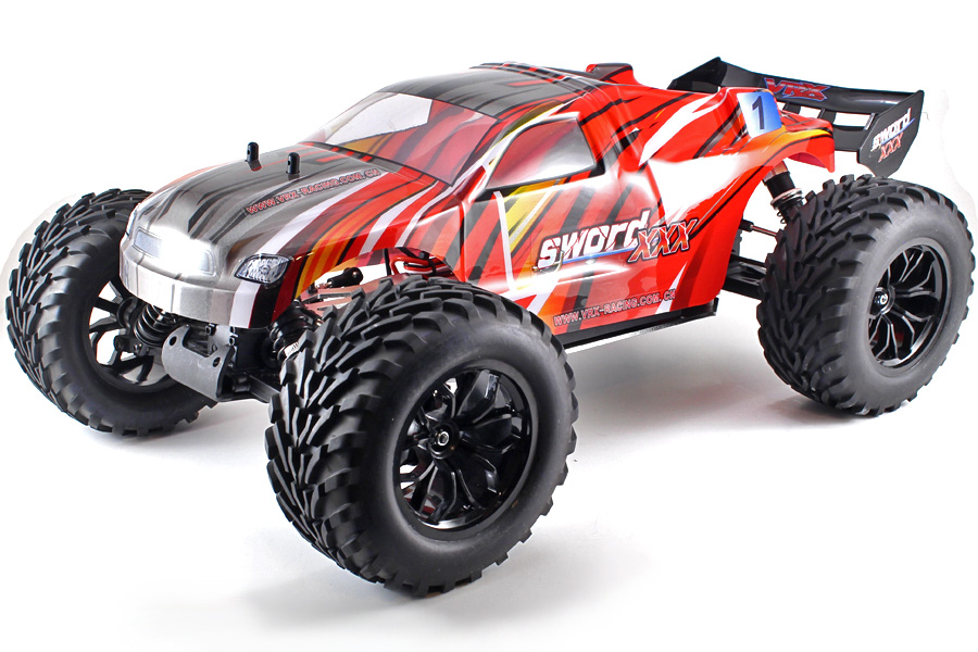 Radiostyrd bil - 1:9 - Sword 3X EBL Red - 2.4GHz - RTR