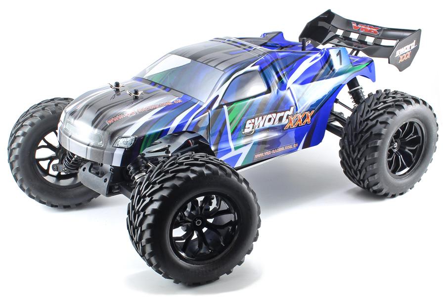 Radiostyrd bil - 1:9 - Sword 3X EBD Blue - 2.4GHz - RTR