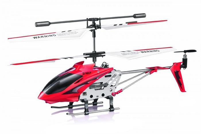 Radiostyrd helikopter - Syma S107G Röd - 3,5ch - RTF