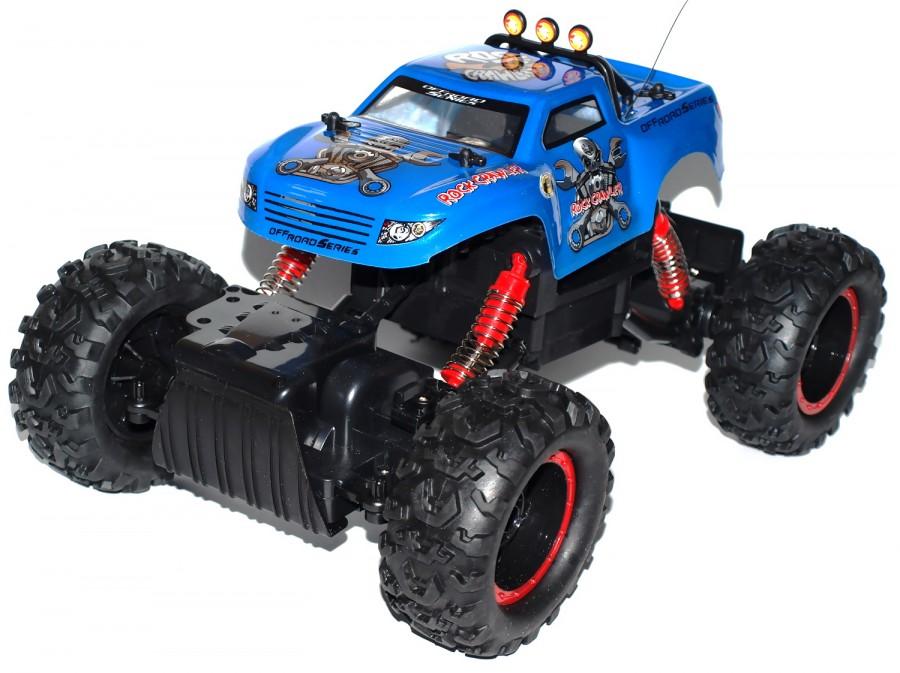 Radiostyrda bilar - 1:12 - N.Q.D Rock Crawler 4WD Blå - RTR