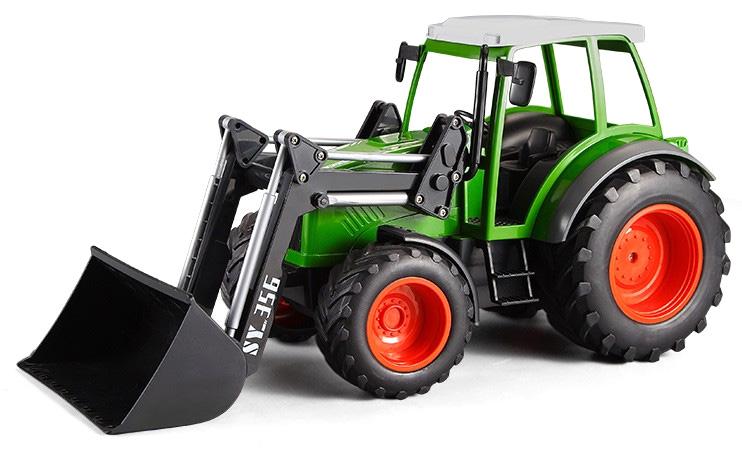 Radiostyrd Traktor - 1:16 Traktor med skopa - 2,4Ghz - Grön - RTR
