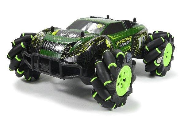 Radiostyrd bil - 1:16 - Stunt Roller 4WD Green - 2,4Ghz - RTR