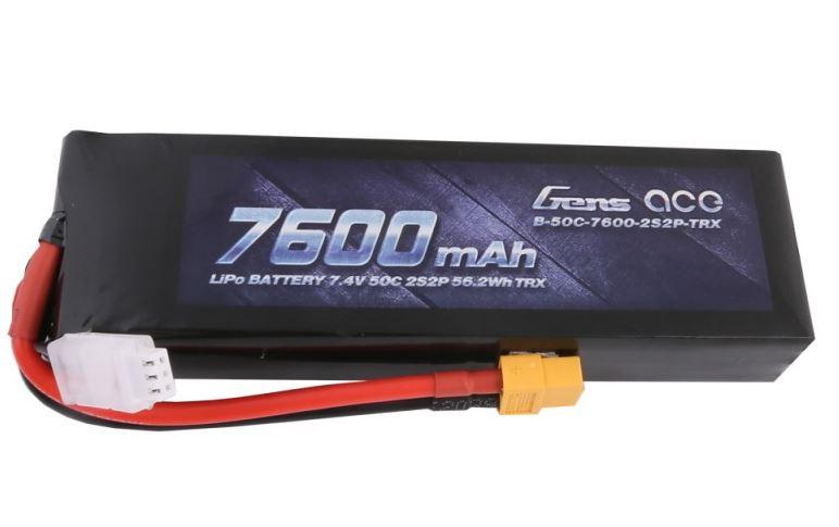 Batteri - 7600mAh 7,4V 50C XT60 PC - Gens Ace