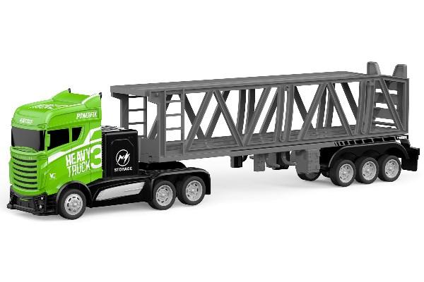 Lastbil m bilsläp - Grön - 1:16 - RTR