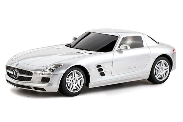 Radiostyrd bil - 1:24 - Mercedes-Benz SLS AMG - Silver - RTR