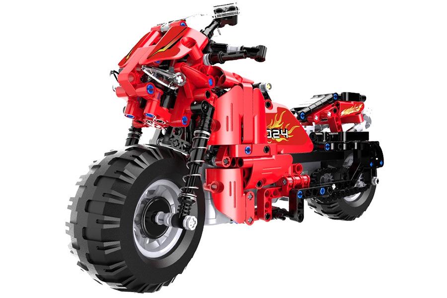 RC bygg modell - CaDA Technic Race Track Motorcycle  - 2,4Ghz - DE