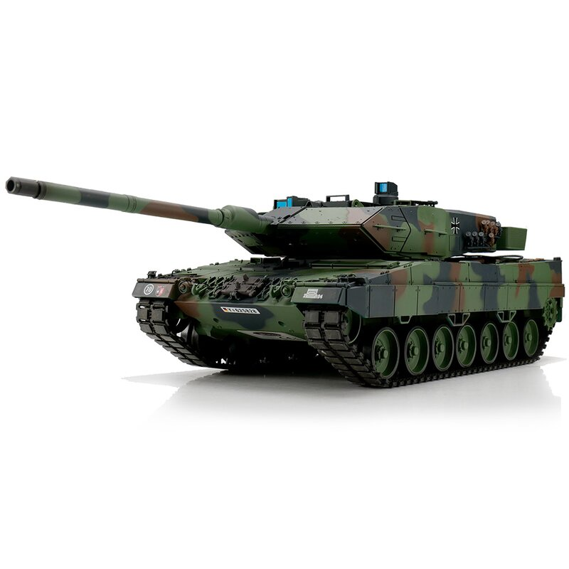 Radiostyrd stridsvagn - 1:16 - Leopard 2A6 Camo Met. Upg. - 2,4Ghz - BB+IR - RTR