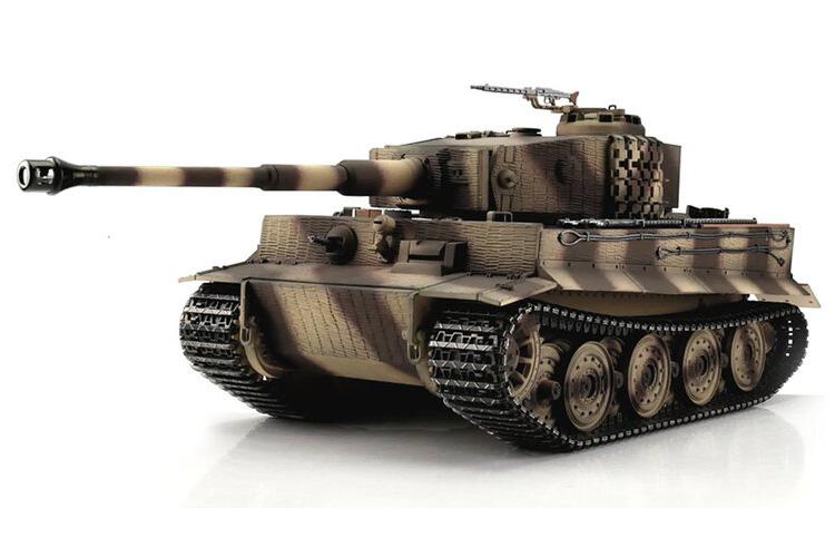 1:16 - Tiger I, Late Version Desert - Torro Pro IR Smoke - 2,4Ghz - RTR