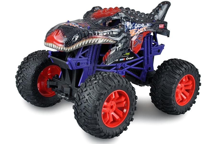 Radiostyrd bil - 1:10 - Red Crocodile Beast Big Monstertruck - RTR