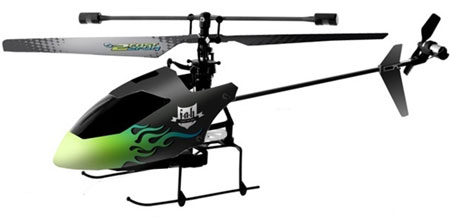 RC helikopter - F.A.H Fast As Hellicopter - 2,4Ghz Gyro - 4ch - RTF