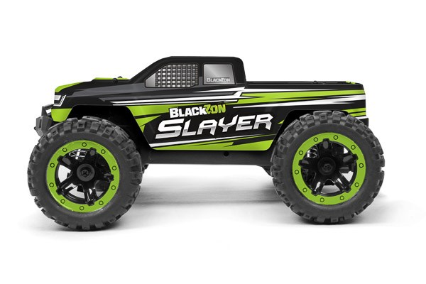 Radiostyrd bil - Slayer MT 4WD Green - 1:16 - 2,4Ghz - RTR