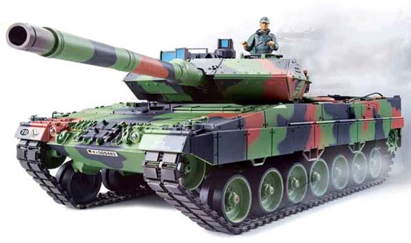 Radiostyrd stridsvagn - 1:16 - Leopard 2 A6 V6 - 2,4Ghz - s.airg. rök & ljud - RTR