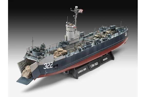 Byggmodell krigsfartyg - US Navy Landing Ship Medium - 1:144 - Revell