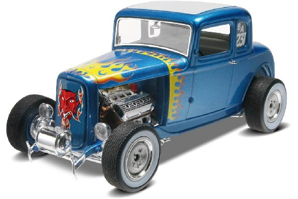 Byggmodell bil - 1932 Ford 5 Window Coupe 2n1 - 1:25 - Revell