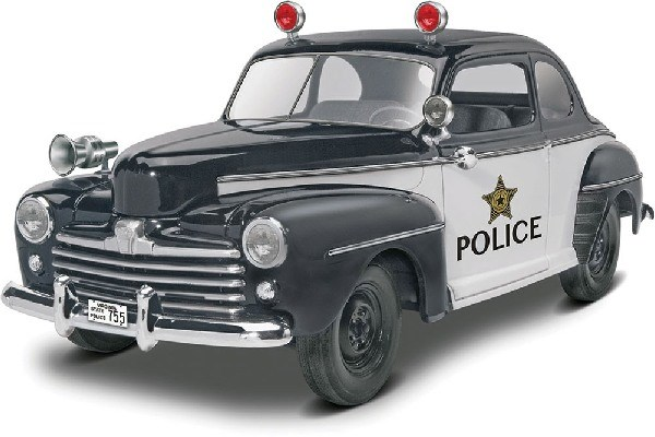 Byggmodell bil - 1948 Ford Police Coupe 2n1 - 1:25-  Revell