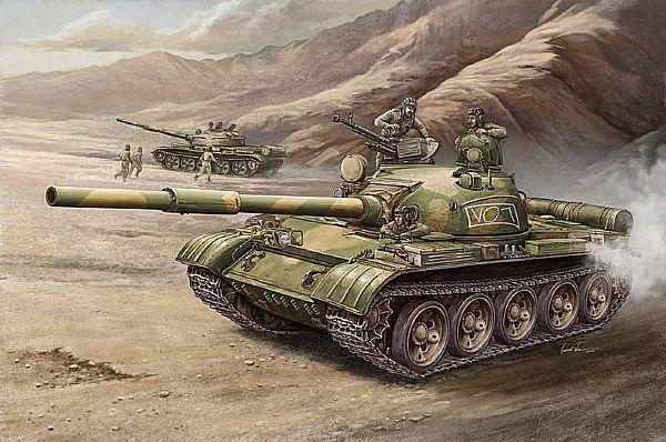Byggmodell stridsvagn - T-62 Mod 1972 - 1:35 - Tr