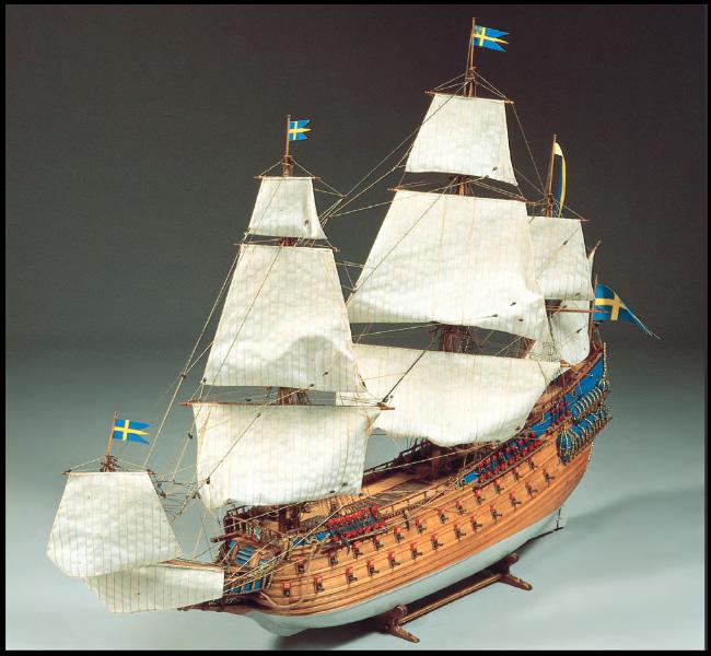 Byggmodell träskepp - Regalskeppet WASA - 1:75 - BB