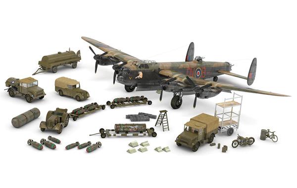 Byggmodell flygplan - RAF Bomber Command, Gåvo Set - 1:72 - Airfix