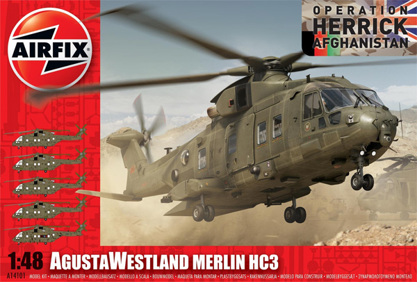 Helikopter modell - AgustaWestland Merlin HC3 - 1:48 - Airfix