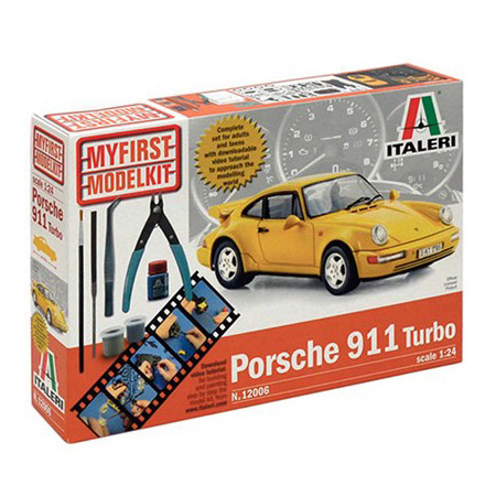 Byggmodell bil - My First Model Kit - Porsche 911 Turbo  Compl.  Set - 1:24 - IT