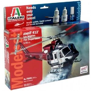 Helikopter byggmodell - Modelset: Bell 412 Los Angeles City Fire Dep. - 1:72 - IT