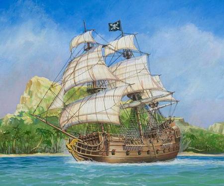 Byggmodell båt - Pirate Ship Black Swan - 1:350 - Zv