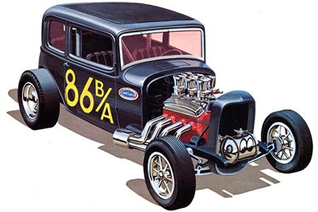 Byggmodell bil - 1932 Ford Victoria - 1:25 - AMT