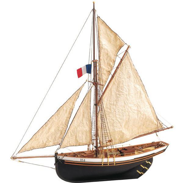 Byggsats båt trä - JOLIE BRISE - 1:50 - ArtS