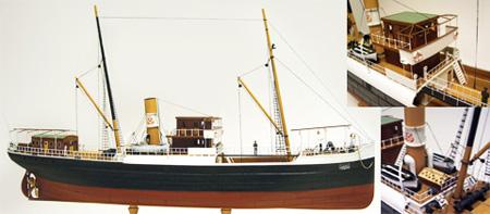 Byggmodell båt trä - Panderma Steamfreighter - 1:87 - TM