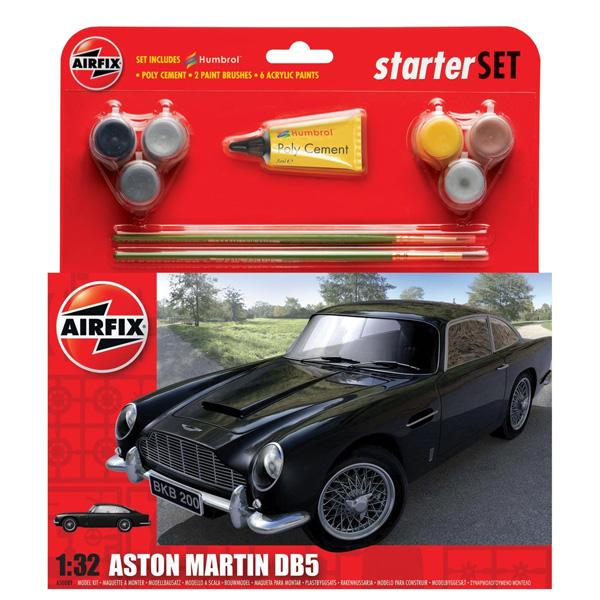 Byggmodell bil - Aston Martin DB5 - Gift Set - 1:32 -Airfix