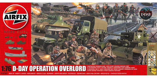 Byggmodell diorama - D-Day Operation Overlord Giant - Gift Set - 1:76 - Airfix